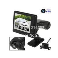 Newest High Quality HD Car DVR Car Black Box With Reversing Camera Smart Car Reverse Video System 3.5 Inch LTPS TFT LCD
