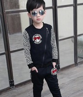 2014 High Quality New Arrival Boys Autumn sport set  jacket and pants kids Autumn&winter boys suit  free shipping