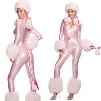 Hot 2014 Pink Sexy Electronic dog Cosplay Costumes Women Cinema Animal Halloween Christmas Catwomen Costum Kit