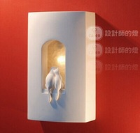 Gypsum carved stair ofhead brief modern wall lamp small cat