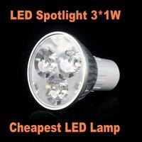 1pcs LED SpotLight Bulb GU5.3  3W High Bright lamp Lighting Epistar AC85-265V Lowest Price Free Shipping