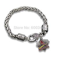 2015 Fashion Design Alloy St. Louis Cardinals Charms Bracelets
