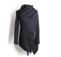 Free Shipping  2014 Autumn Winter Woolen Coat Womens Overcoat Temperament Slim Trench Desigual femininos Wool & Blends S-XXL