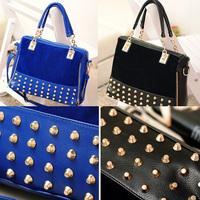 Korean Style Fashion Women lady Rivet Tote Shoulder Messenger Handbag Hobo Bag
