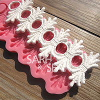 M0549 Fence relief cake border fondant cake molds soap chocolate mould for the kitchen baking decoration tool