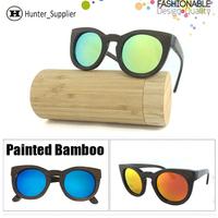 Cat eye Bamboo Sunglasses Women Polarized Wooden Glasses oculos de sol feminino Handmade Wood Eyewear Tinted Frame ESBM006A