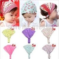 Specials 12 Colors Dot Printing Cotton Baby Headband Children Girl Bandanas Headscarf Band 1-3 Year Kids Girls 15PCS/Lot AX020