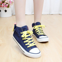 Canvas shoes female high summer lovers solid color elevator shoes multi-colored the trend of fashionable casual