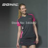 original Donic women T-shirts table tennis donic short sleeve sports uniform polyester Table tennis serve women ping pong suit