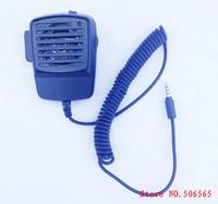 Black Color Transceiver  Microphone handset shoulder speaker  for Iphone ,Samsung, 3.5mm plug Freeshipping