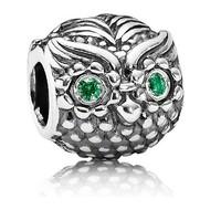Vintage Wise Owl Charm Bead 925 Sterling Silver  Fashion Jewelry DIY for Women Bracelet Jewelry