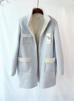 Patchwork 2014 women's winter coat outerwear medium-long overcoat wadded jacket thickening cotton-padded jacket female 8879