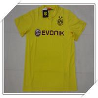 2015 Brand Factory Fans Version Dortmund Third Jersey,Men Outdoor Dortmund 14/15 Yellow Jersey,Size S-XL,Free Ship