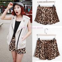 NEW summer autumn fashion leopard print joker casual loose shorts for women women's short Free Shipping 2048