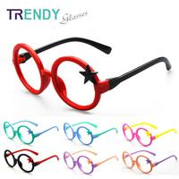 Round Star Glasses Frames Kid Eyewear Accessories Brand Eyeglass Frames Gafas KJ68