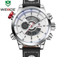 New Gift WEIDE Relojes Fashion & Casual Men's Quartz Sports Watch Analog-Digital Display Waterproof Clock Army Watches Designer