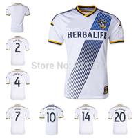 Top Thai Quality 2014 2015 LOS ANGELES GALAXY white home soccer jerseys DONOVAN GONZALEZ soccer Jersey LA Galaxy football shirt