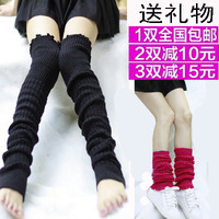 Female yarn knitted twisted ankle sock socks thermal kneepad leg cover air conditioning dance socks
