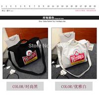 New arrival! FREE SHIPPING Harajuku ulz for za ng all-match cross-body one shoulder cartoon girl print canvas bag shopping bag