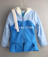 Free shipping Autumn Winter New Arrival frozen elsa hooded jacket + braid set,girls jacket,girls cartoon coat,5pcs/lot wholesale