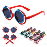 2pcs/lot Vintage Round Kids Sunglasses Eyewear Accessories Outdoors Oculos De Sol Feminino KJ60