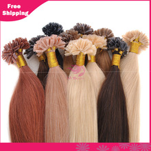 Best 6A Grade Keratin U Tip Brazilian Human Hair Extensions Cheap Wholesale U Tip Remy Hair 100g/Pack For Sale(China (Mainland))