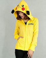 Free Shipping NEW!!! Cotton Blend Pikachu Pokemon Anime Sweater Sweatshirt Hoodie High Quality