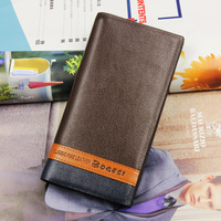 Leather Man Wallet 2014 arrival brand design purse long fold wallets High Quality me wallets