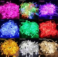LED String Light 10M 100led AC 110V or AC 220V US EU Plug Colorful Holiday LED Lighting Waterproof Outdoor Decoration Light