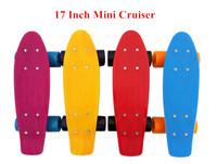 17Inch Kids Beginner skateboards Penny Style Retro Cruiser Mini Skateboard Plastic long board skate complete for children