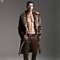 Imitation mink fur male marten fur overcoat fur coat men's clothing fur coat