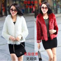 2014 rex rabbit mink fox fur coat female short design vest cape