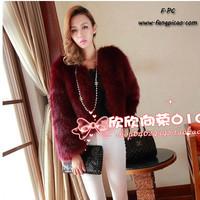 2014 luxurious fox fur coat