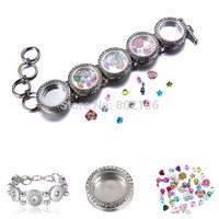 Yourself Gift MINI 5 Snap bracelet Glammy Charm bracelet Men Women Jewelry For Glass Memory Living Floating Locket Factory Price