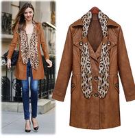 Fashion Novelty Jaqueta De couro Feminina Jaqueta Couro Brown Women Faux Leather Jacket XZX19103