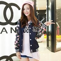 hot ring and autumn winter new couples  female Korean baseball uniform jacket  cardigan students Baseball Jacket