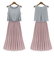 New Desigual Women Summer Dress Fashion Sleeveless & Ankle-Length Vestido De Festa Summer Beach Dress 2014 XZX19101