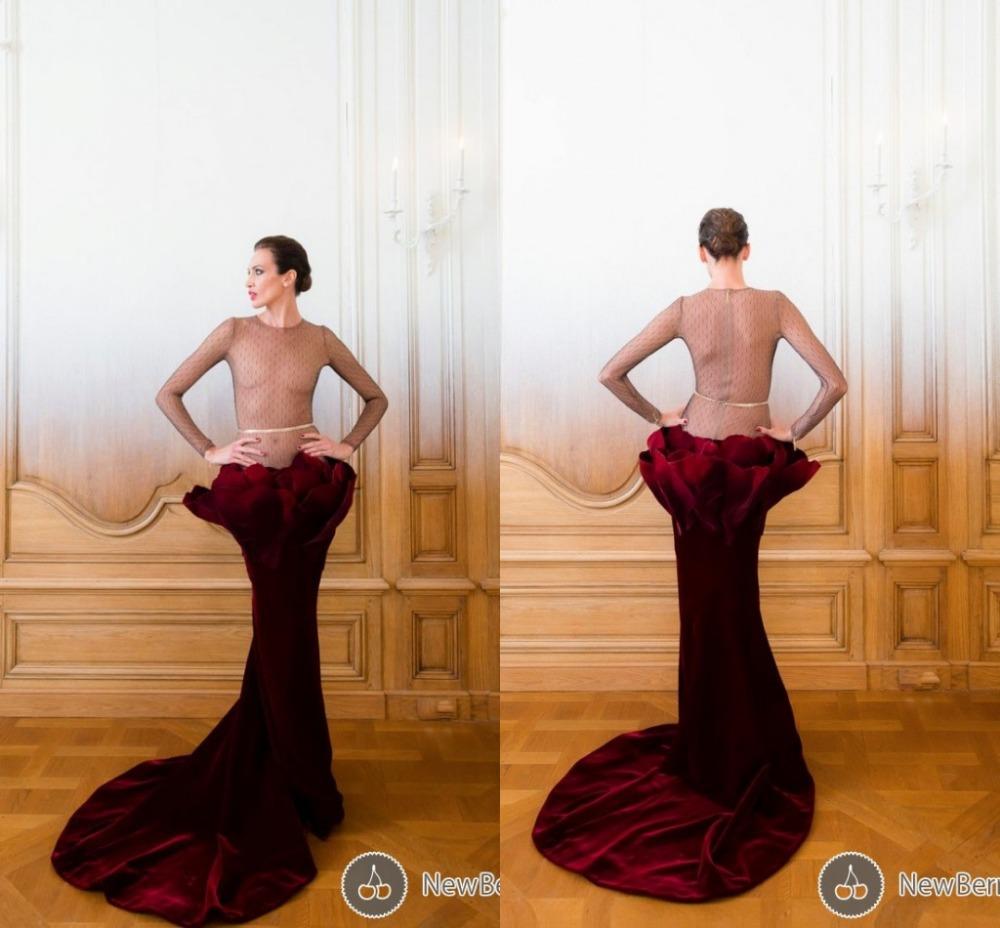 Burgundy Velvet Dress For A Fall Wedding Sleeves Burgundy Velvet