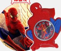 100pcs/lot ! Spiderman Slap Chidren Watch Cartoon Wristwatch Slicone Snap Watch G2288 on Sale Wholesale