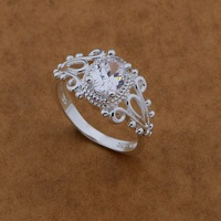 3 colors! wedding rings women sterling silver rings silver 925 ring fashion jewelry wholesale rings free shipping AR477