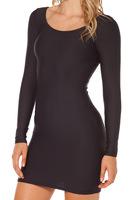 Brand women pencil bodycon dresses new 2014 autumn winter sexy long sleeve black casual dress plus size vestidos femininos K18