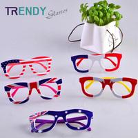 10pcs/lot Wholesale Glasses Frames Map Printed Kid Eyewear Accessories Glasses Frame Oculos KJ76