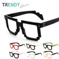 Glasses Frame Without Lens Eyeglasses Men Sunglasses Mosaic Men Accessories Oculos Grau KJ54
