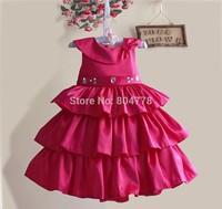 New Baby Party Dress Diamond Children Princess Dress Exquisite Flower Girl's Tutu Dress Wholesale 6pcs/lot