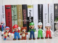 11cm Super Mario Bro Figure Boomerang Mario Tanooki Mario Action Figures 6pcs/set   PVC figure toys