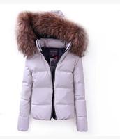 E-Unique Fashion Women'S 2014 Winter Down Jacket Outerwear Overcoat Coony Large Fur Collar Ova Fur Collar Jacket WWB55