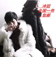 Popular lovers 2014 fur coat overcoat medium-long