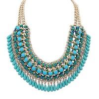 NEW Hot Bohemia Bubble Bib Choker Chunky Statement Necklace Women Max Colares Femininos Jewelry