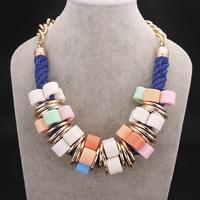 factory sale free shipping chunky fashion necklace imitation gold necklace hot sale China wholesale free shipping FSN005-B