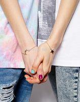 moon star bracelet alloy charms bracelet friendship bracelet